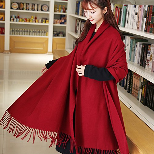 Amazon.com: MH-RITA Folk Style Scarf Long Warm Cloak Shawls Two Color Increase Thick Scarf,Gray: Home & Kitchen