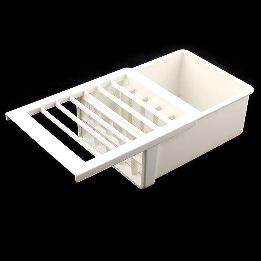 Amazon.com: eDealMax plástico de la cocina del rectángulo hecho a mano Presione el fabricante del queso de soja del molde del cortador de caja de la caja ...