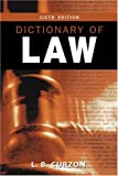 Dictionary of Law, Curzon, L. B., 0582438098
