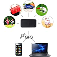 Gps Tracker,Hangang Mini Personal Wallet GPS Tracker, Long Time Standby with GPS/LBS Dual models for Purse Bag Wallet Bags Kids Satchels Important Documents Lost Finder with Free App