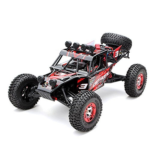 TTLIFE Rc Car EAGLE-3 1:12 4WD 2.4G Full Scale Desert Off-road Vehicle Anti-Shock Max 35KM/H Truck (RED)