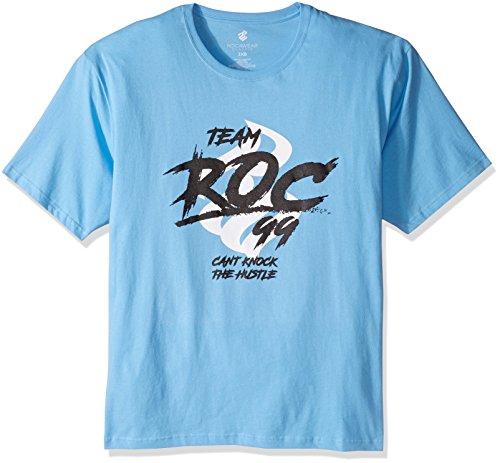 Rocawear Mens Big And Tall Team Roc 99 Short Sleeve Tee Light Blue 4XB