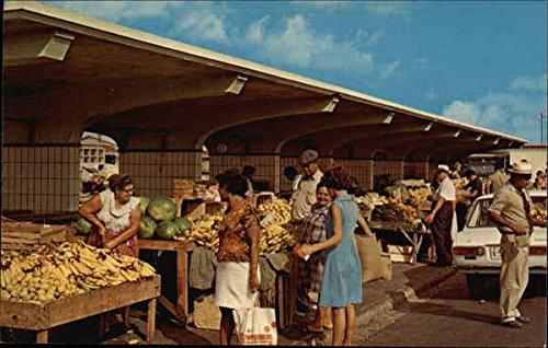 Public Market at Waterfront Aruba, Netherland Antilles Original Vintage - At Stores Waterfront