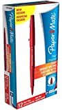PaperMate Flair Original Felt Tip Pen, Medium - Red, Pack of 12