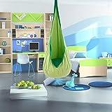 space pod chair - CO-Z Kids Pod Swing Child Hanging Chair Indoor Kid Hammock Seat Pod Nook (Basic Design, Green)