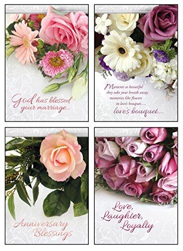 Religious Anniversary Card - Anniversary Boxed Cards - Anniversary, Lasting Love 12 Boxed Cards Includes KJV Scriptures