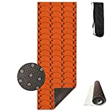 Non Slip BASKETBALL BASKET BALL Basketball NBA TEAM Design Yoga Mat Great For Exercise Pilates Gymnastics With Carrying Strap