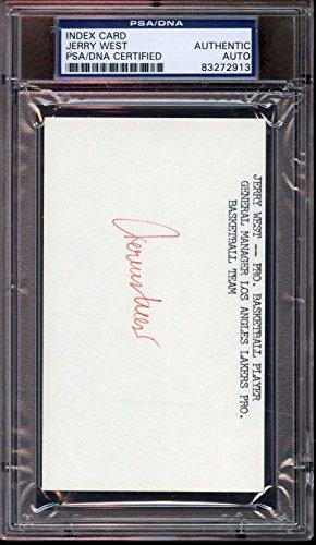 Signed West Photograph - Index Card PSA DNA Authentic - NBA Cut Signatures (Index Card Signature Autograph)