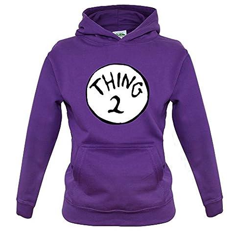New Way 217B - Hoodie Thing 2 Unisex Pullover Sweatshirt Large Purple - Thing Mens Hoodie