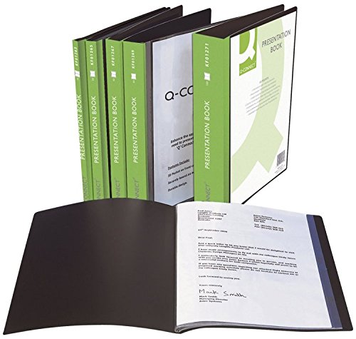 Q Connect 30-Pocket Display Book - Black 40-Pocket by Q-Connect