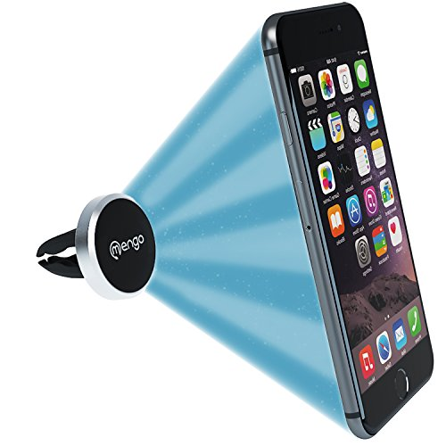 Price comparison product image Mengo Slim-Snap Aluminum Magnetic Air Vent Car Mount Holder For (iPhone, Samsung, HTC, LG, Nokia, Blu, iPods, GPS)  Universally Compatible