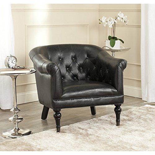 (Safavieh Mercer Collection Nicolas Club Chair, Antique Black)