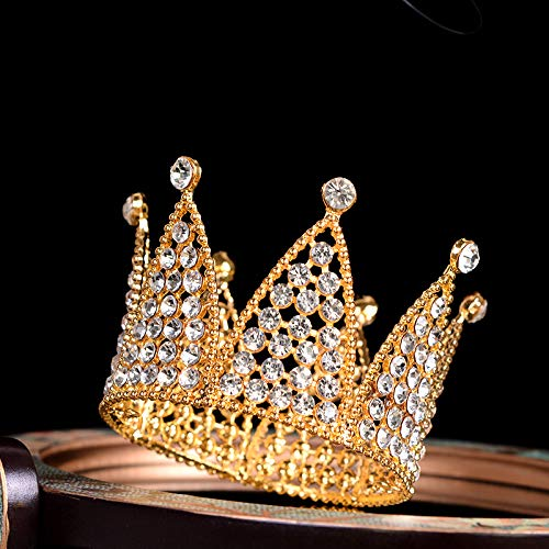 Mini Crown Cake Topper Decoration- Gold Decorations with