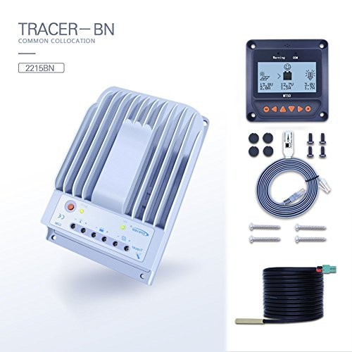 EPEVER 20A MPPT Solar Charge Controller Tracer A 2210A by Anancooler (20A-Negative+MT50+RTS) by Epever