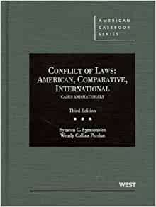 Conflict of Laws: Cases & Materials [With Teacher's Manual]