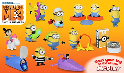 Despicable minion great escape 2017 USA McDonald's limited edition happy martyr 12 species / DESPICABLE ME 3 minion's dispicable me happy set, McDONALD HAPPY MEAL TOY capdase latest movies
