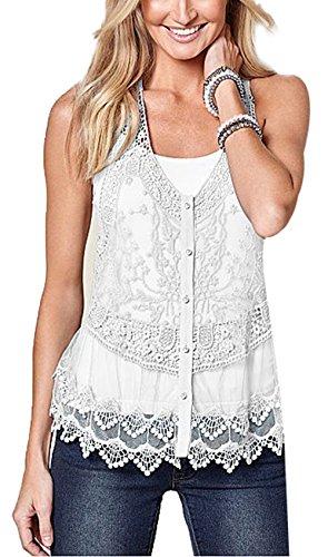 Floral Button Front Shirt - 7