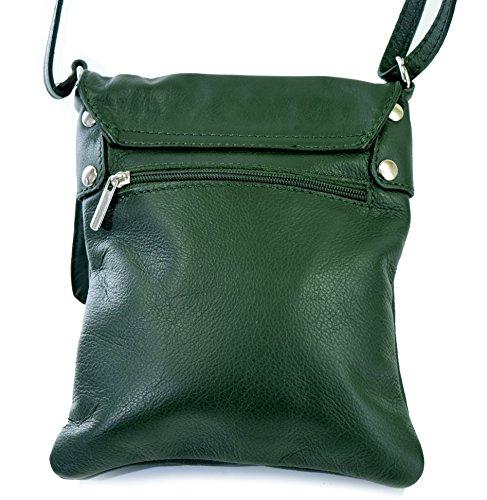 77ed43d53f5a0 ... Ital Echt Leder Damentasche Handtasche Ledertasche Schultertasche  Umhängetasche grün