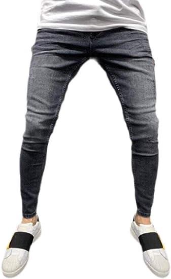 FRPE Mens High Waist Slim Casual Sport Denim Jeans Pants