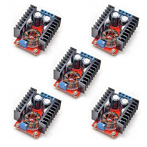 - Gowoops 5PCS 150W DC-DC 10-32V to 12-35V Step Up Boost Converter Module Adjustable Power Voltage