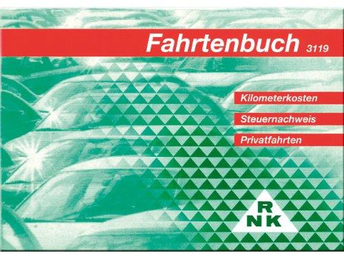 RNK - 3119 Fahrtenbuch PKW, steuerlicher Kilometernachweis, DIN A6 quer, 32 Blatt