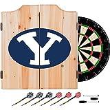 NCAA BYU Wood Dart Cabinet Set