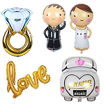 5 Unids globos XL novio novio coche de novios anillo LOVE . ideales para la decoracion