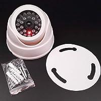 ValianhAgen Faux Caméra Dummy Faux Surveillance CCTV sans Fil dôme de sécurité LED Clignotant