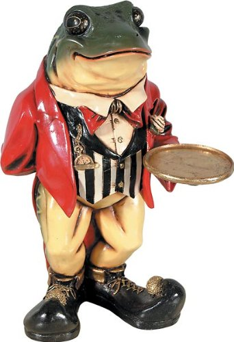 Butler Drink Holder - Whimsical Treasures by AFD Home 10286372 Frog Butler Decorative Accent, 2-Feet