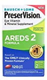 Bausch & Lomb PreserVision Eye Vitamin & Mineral Supplement AREDS 2 Formula -- 120 Softgels - 3PC