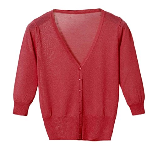 Tootess Women's Vest Cardigan Basic Sunscreen Knitting Coat Button Shirt Top