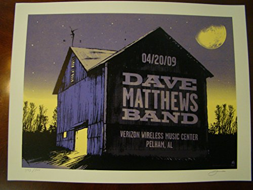 - Dave Matthews Music Poster Dave Matthews Band Pelham 09 Methane