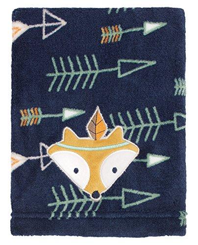 (Little Love by NoJo Appliqued Coral Fleece Blanket, Aztec)
