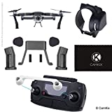 Sun Hood, Remote Control Lock and Landing Gear Kit for DJI Mavic Pro - Sun Shield Blocks Excess Sunlight - Leg Extensions Give More Ground Clearance - RC Protector Locks the Position of Both Joysticks