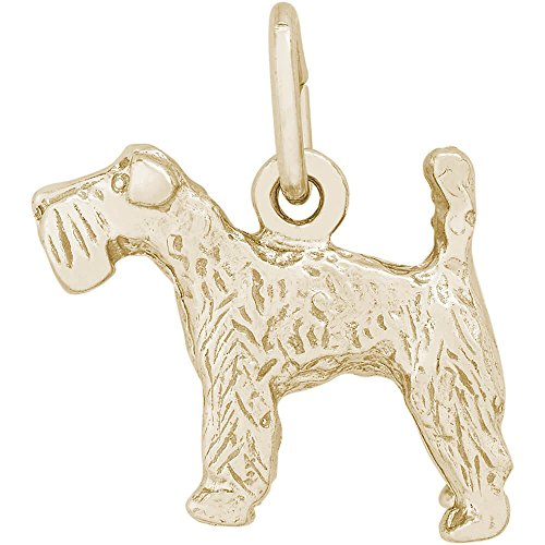 Dog Charm Blue Kerry Terrier (Rembrandt Charms 10K Yellow Gold Kerry Blue Terrier Charm (0.5 x 0.6 inches))