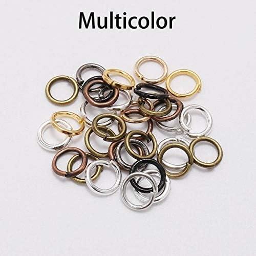LHSY 200pcsの/ロット4 5 6 8 10ミリメートルジャンプリング、スプリットリングコネクタDIYの宝石の検索卸売用品アクセサリーを作るための (Color : Multicolor, Size : 14mm x 100Pcs)