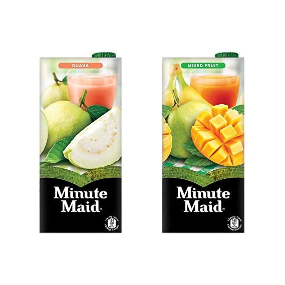 Minute Maid Juice (Guava & Mixed Fruit Flavour), 1L (Pack of 2)
