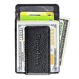 Garigolden Money Clip, Leather RFID Blocking Wallet for Men(Black) …