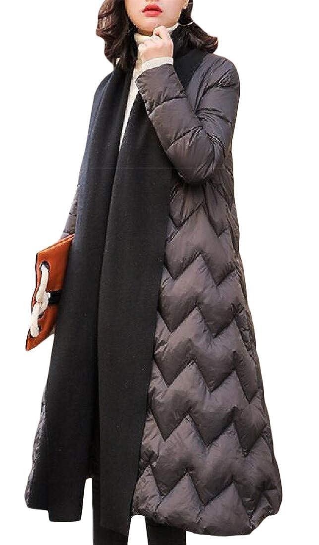 Black XiaoTianXinWomen XTX Women Pocket Lightweight Quilted Shawl Collar Basic Thicken Down Outerwear Coats Jacket