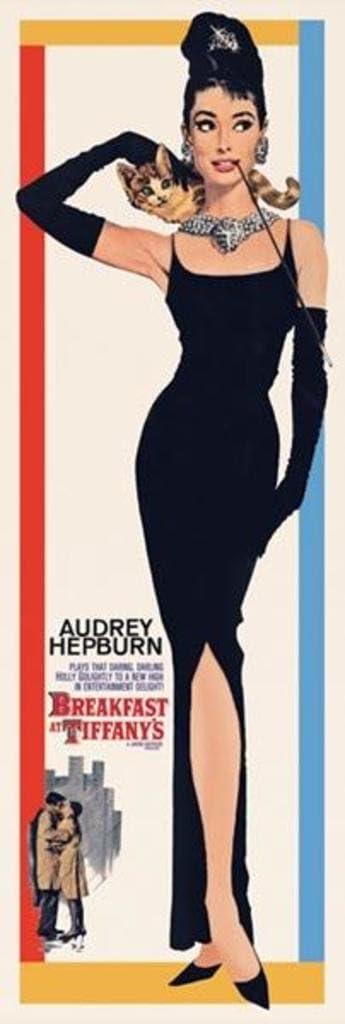 Pyramid America Breakfast at Tiffanys Audrey Hepburn Holly Golightly Romantic Comedy Movie Film Cool Wall Decor Art Print Poster 12x36