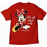 Disney Minnie Mouse ITS ALL ABOUT ME Womens Plus Size T Shirt - Red
