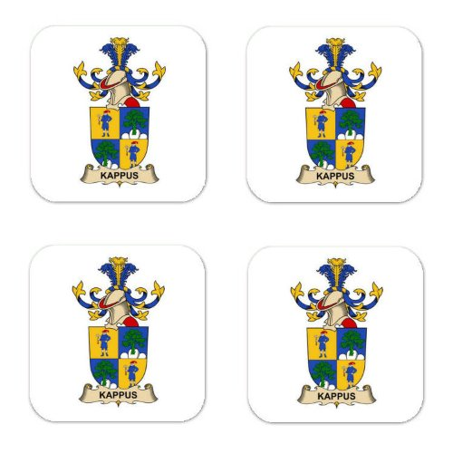 Kappus De Pichlstein Family Crest Square Coasters Coat of Arms Coasters - Set of 4