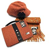 Mucros Set: newsboy Cap, Alpaca Scarf and Fiona Bag