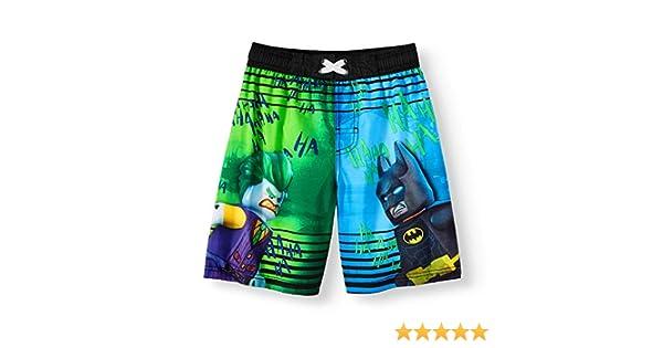 c8ccc242a1 Amazon.com: LEGO DC Comics Batman and Joker Boys Boardshort Swim Trunks  Black: Clothing