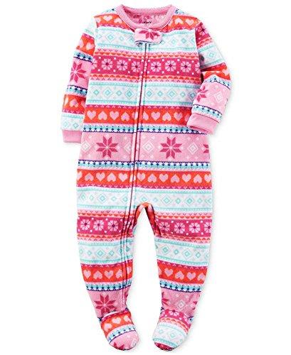 Carters 1 Piece Footed Fleece Pajamas