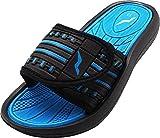 NORTY Boy's Slide Strap Shower Sandal, Black, Blue 40345-2MUSLittleKid