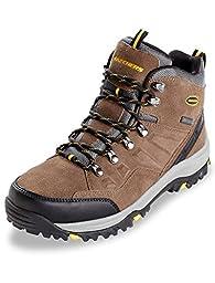 Skechers Men\'s Relaxed Fit Relment Pelmo Hiking Boot,Khaki,US 15 M