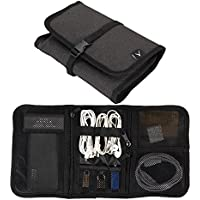 Hynes Eagle Portable Universal Electronics Accessories Travel Organizer Black