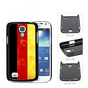 Germany Flag Black Red and Yellow Vertical Stripes Grunge Hard Snap on Cell Phone Case Mini Samsung Galaxy S4 I9500