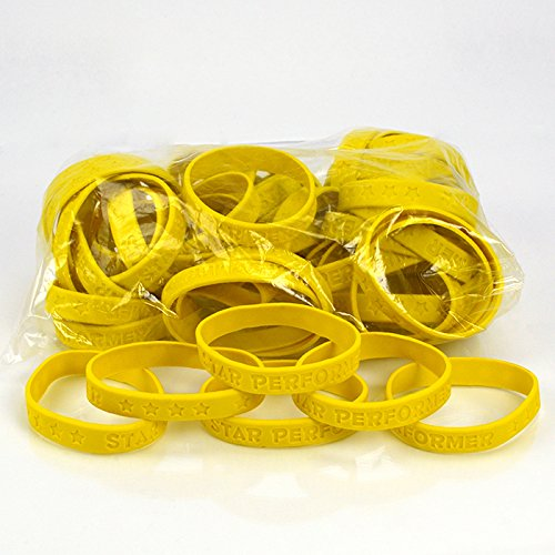 Set of 100 Wristbands - Star Performer (Yellow)